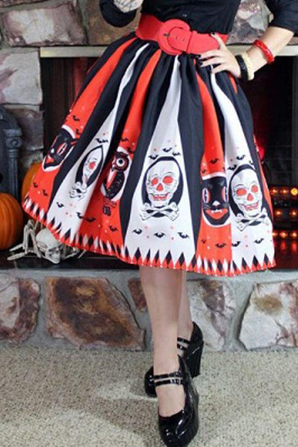 Lovely Euramerican Halloween Party Orange Mid Calf