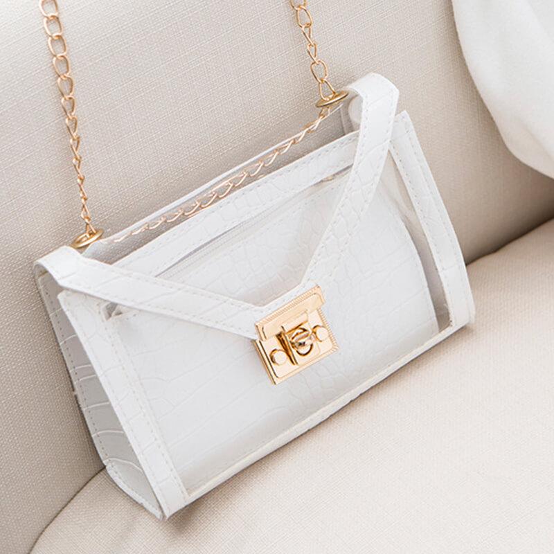 Lovely Trendy Chain Strap White Crossbody Bags
