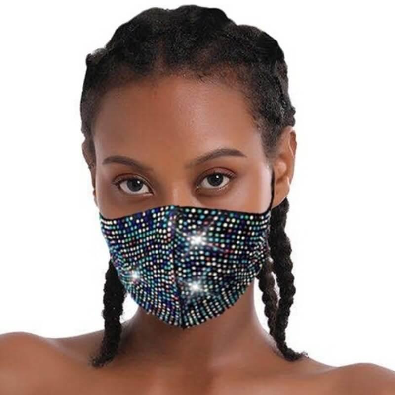 Lovely Rhinestone Decorative MulticolorFace Mask