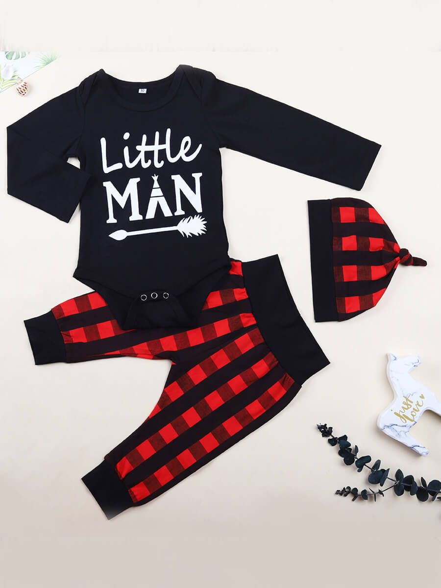 Lovely Casual O Neck Letter Print Black Boy Two-pi