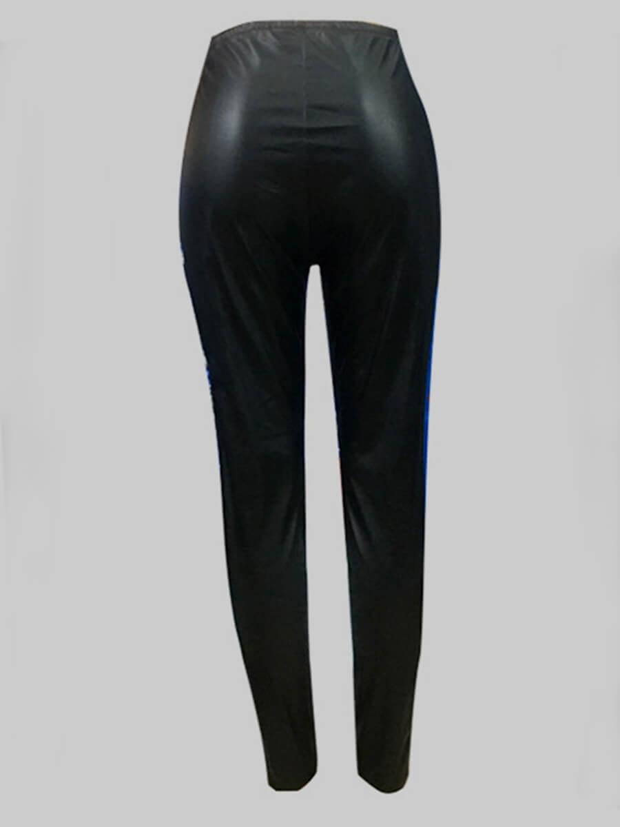 Lovely Plus Size Stylish Basic Skinny Black Pants
